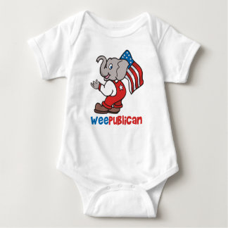 WeePublican and Flag Baby Bodysuit