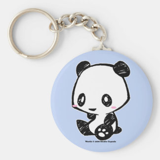 Weetle Panda Basic Round Button Keychain