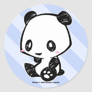 Weetle Panda Round Sticker
