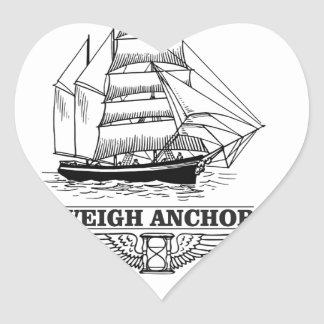 weigh anchor and go heart sticker