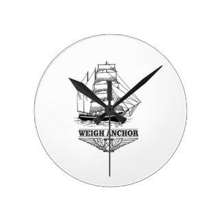 weigh anchor and go wallclock