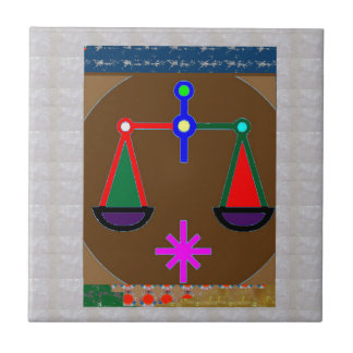 Weigh: Vintage Way THOUGHTS ACTIONS relationships Ceramic Tile