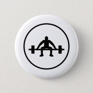 Weight Lift Sign 2 Inch Round Button