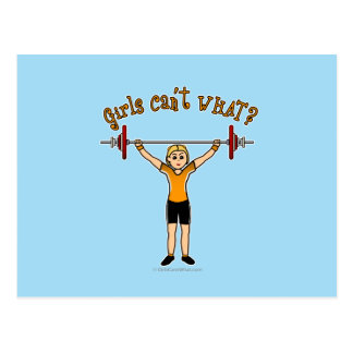 Weight Lifter (Blonde) Postcard