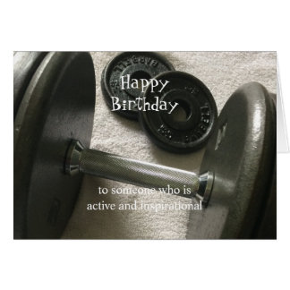 Weight Lifter Inspirational Birthday Card