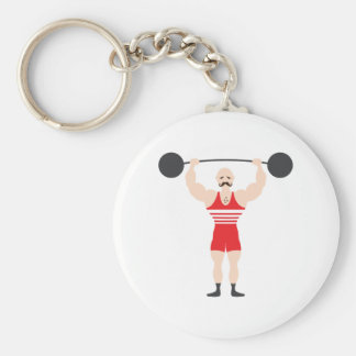Weight Lifter Keychain