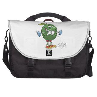 Weight lifting Avocado, on a bag. Laptop Computer Bag
