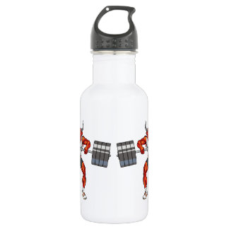 weight lifting bull 2 532 ml water bottle