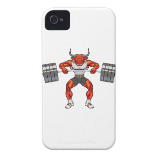 weight lifting bull 2 Case-Mate iPhone 4 case