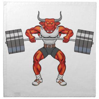 weight lifting bull 2 napkin