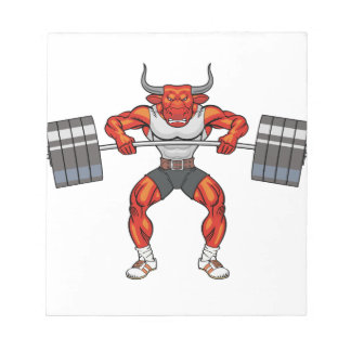 weight lifting bull 2 notepads