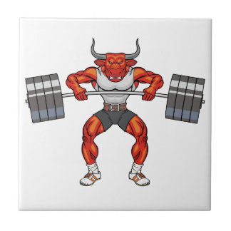 weight lifting bull 2 tile