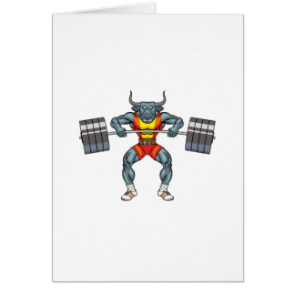 weight lifting bull 3 card