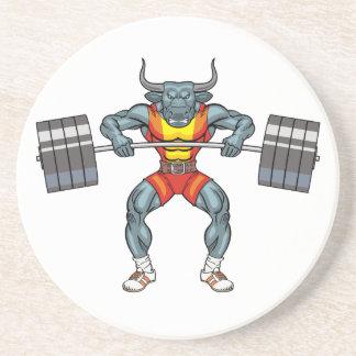 weight lifting bull 3 coaster