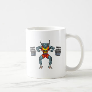 weight lifting bull 3 coffee mug