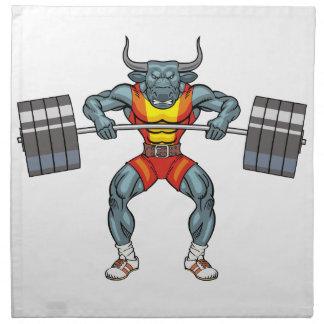 weight lifting bull 3 napkin