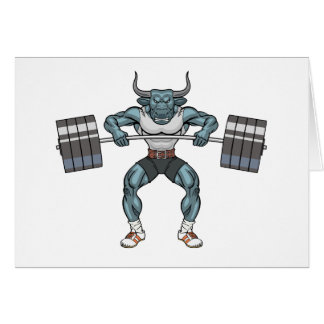 weight lifting bull card