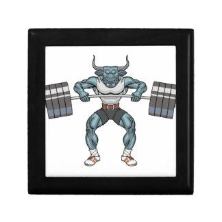 weight lifting bull gift box