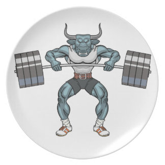 weight lifting bull plate