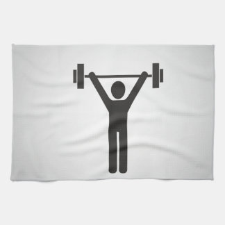 Weight Lifting Kitchen Towel