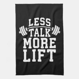 Weight Lifting Motivation - Less Talk More Lift Kitchen Towel