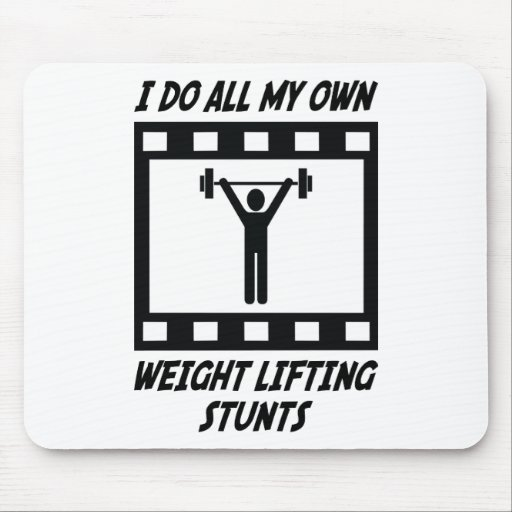 Weight Lifting Stunts Mouse Mat
