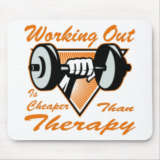 Weight Lifting Working Out Cheaper Than Therapy  2 Mouse Pad