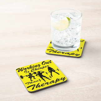 Weight Lifting Working Out Cheaper Than Therapy  3 Coaster