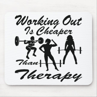 Weight Lifting Working Out Cheaper Than Therapy  3 Mouse Pad