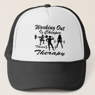Weight Lifting Working Out Cheaper Than Therapy  3 Trucker Hat