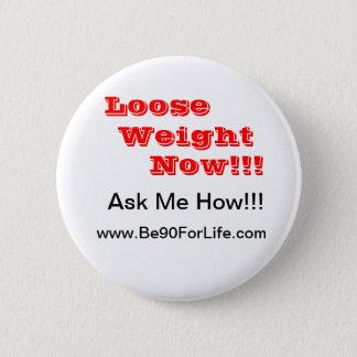 Weight Lose Water 2 Inch Round Button