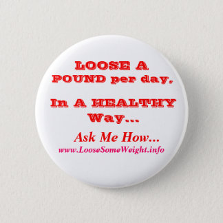 Weight Loss 2 Inch Round Button