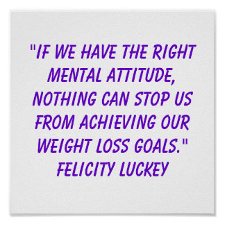 Weight Loss Attitude 9 Poster