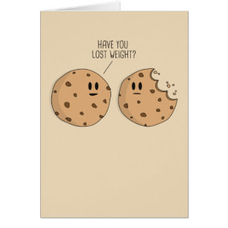 Weight Loss Cookies Greeting Card