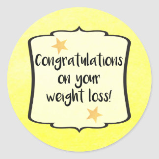 Weight Loss Diet Fitness Planner Congratulations Classic Round Sticker