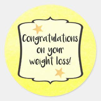 Weight Loss Diet Fitness Planner Congratulations Round Sticker