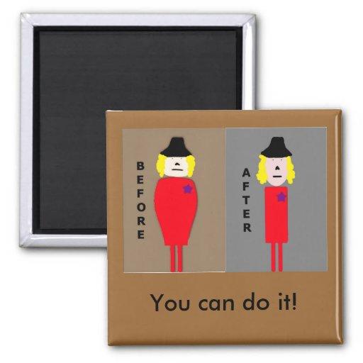 Weight Loss Encouragement Magnet Women