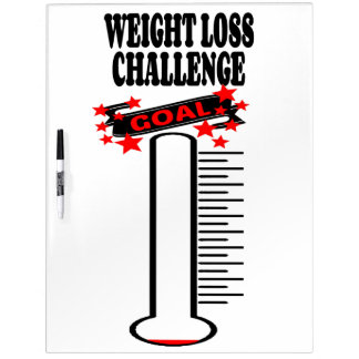 Weight Loss Goal Thermometer BLANK Dry Erase Board
