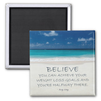 Weight Loss Motivational Magnet: Beach 08 Square Magnet