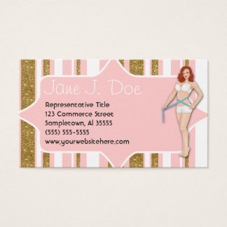Weight Loss Pinup Glitter Business Card