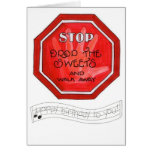weight loss stop sign card