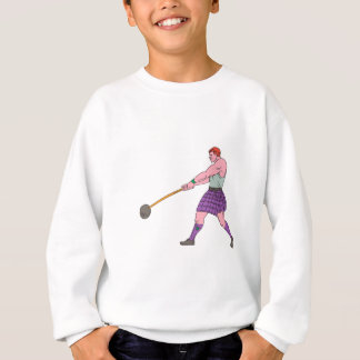 Weight Throw Highland Games Athlete Drawing Sweatshirt