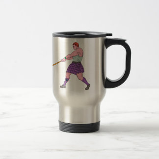 Weight Throw Highland Games Athlete Drawing Travel Mug