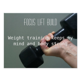 Weight Training Focus Poster