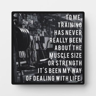 Weight Training Inspirational Words Plaque
