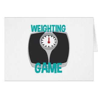 Weighting Game Card
