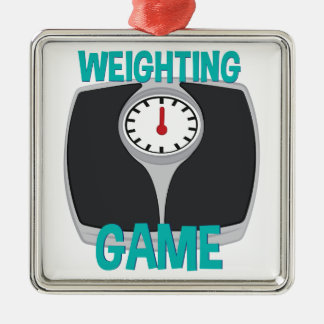 Weighting Game Metal Ornament