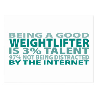 Weightlifter 3% Talent Postcard