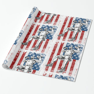 Weightlifter Dumbbell Shoulder Press Wrapping Paper