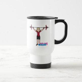 Weightlifter Girl - Light/Blonde Travel Mug